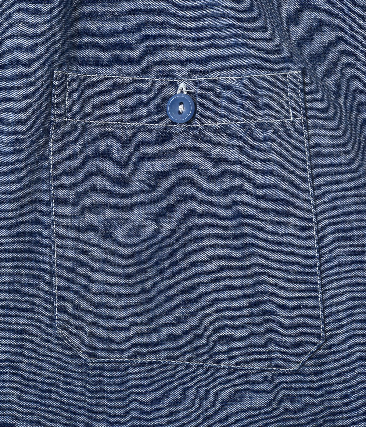 BLUE CHAMBRAY S/S WORK SHIRT