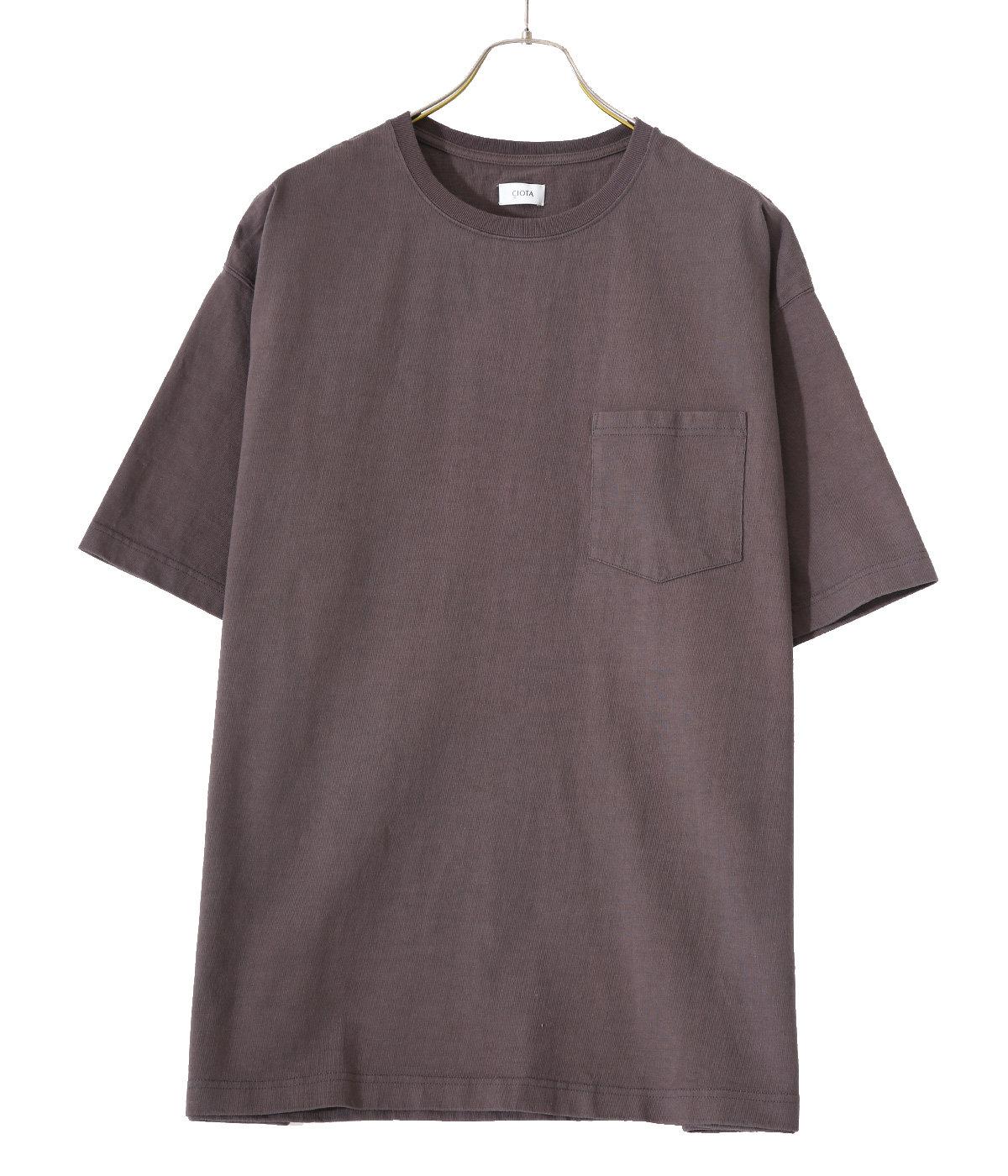 スビンコットン 10/- 度詰め 吊り天竺 ポケット付き半袖T