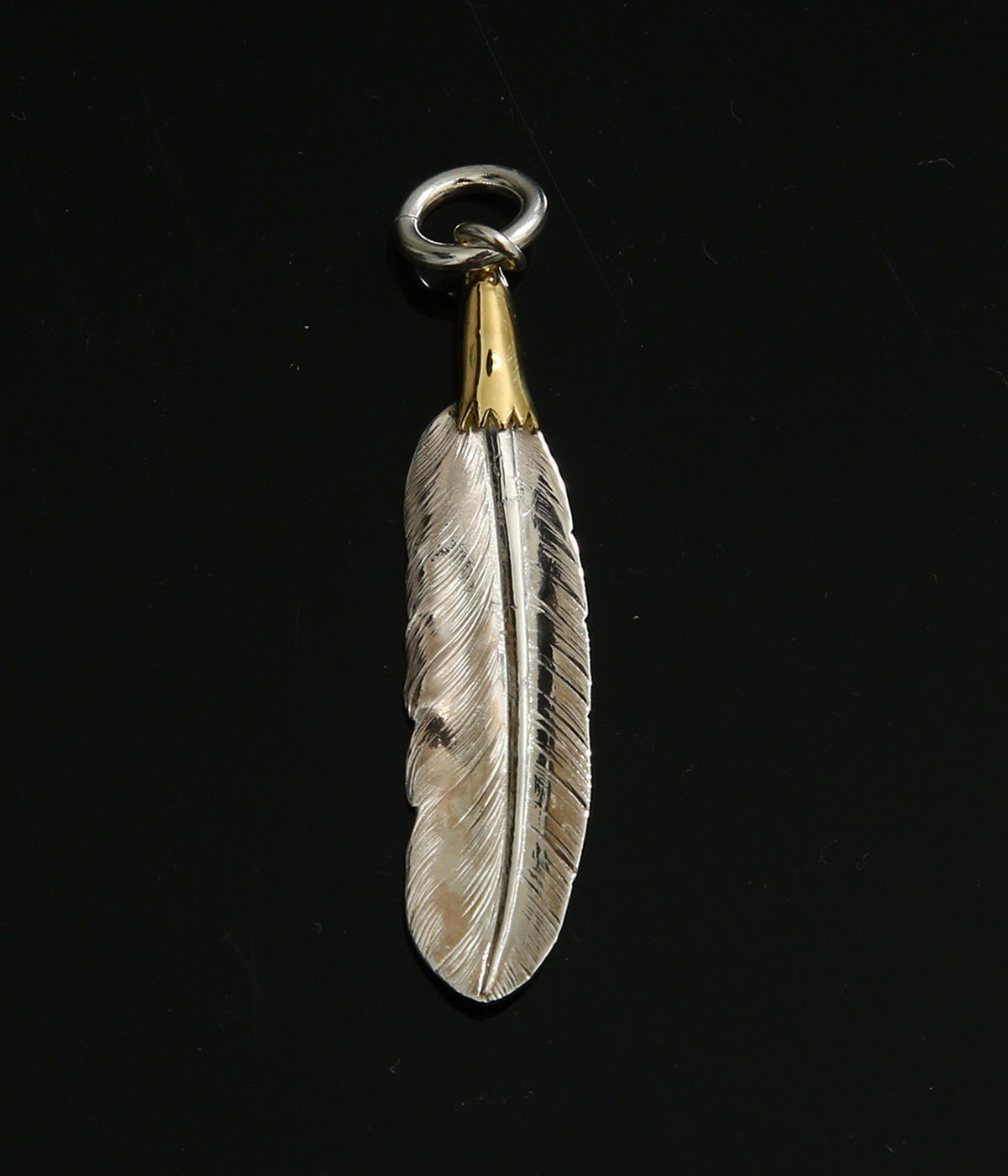 18K EAGLEHEAD SMALL FEATHER