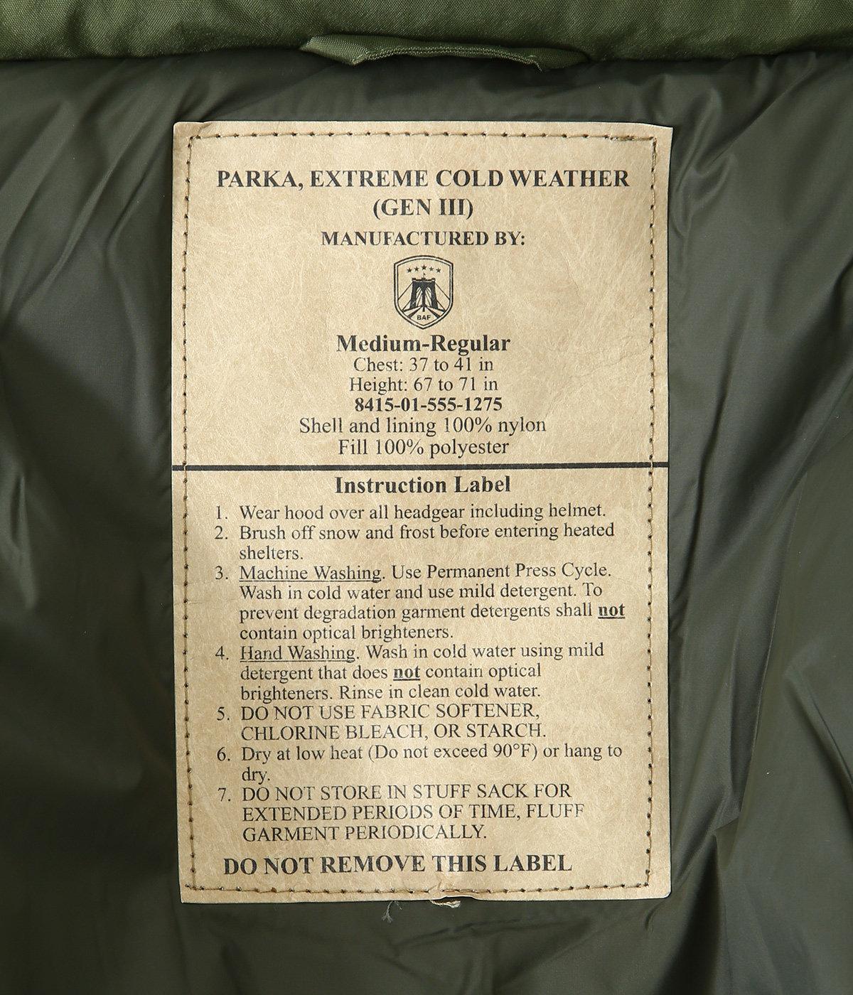 B.A.F / U.S.TYPE ECWCS GEN3 Level 7 PRIMALOFT JACKET