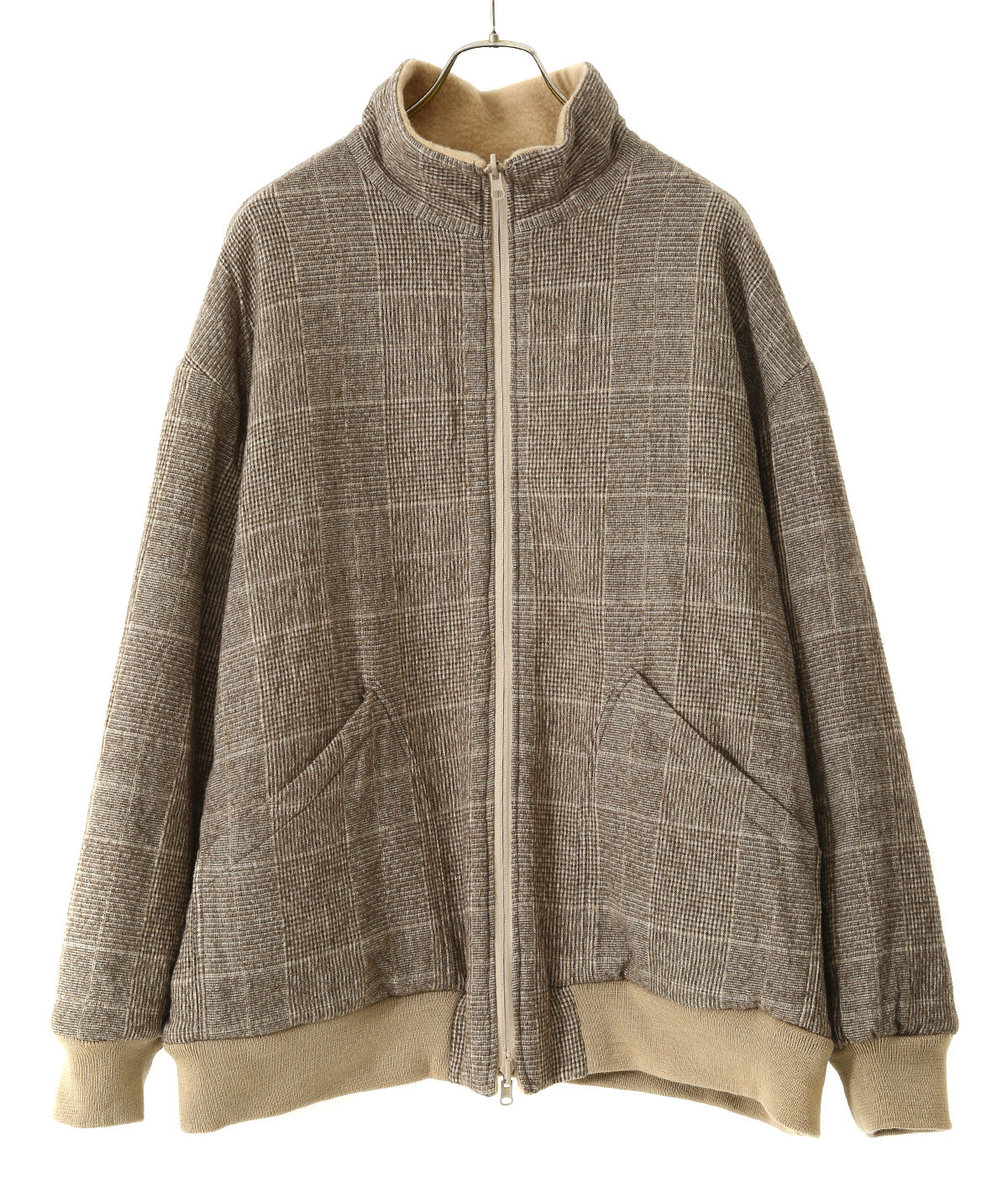 【予約】BOUCLE WOOL KNIT × MILLING C/W TWILL REVERSIBLE JACKET