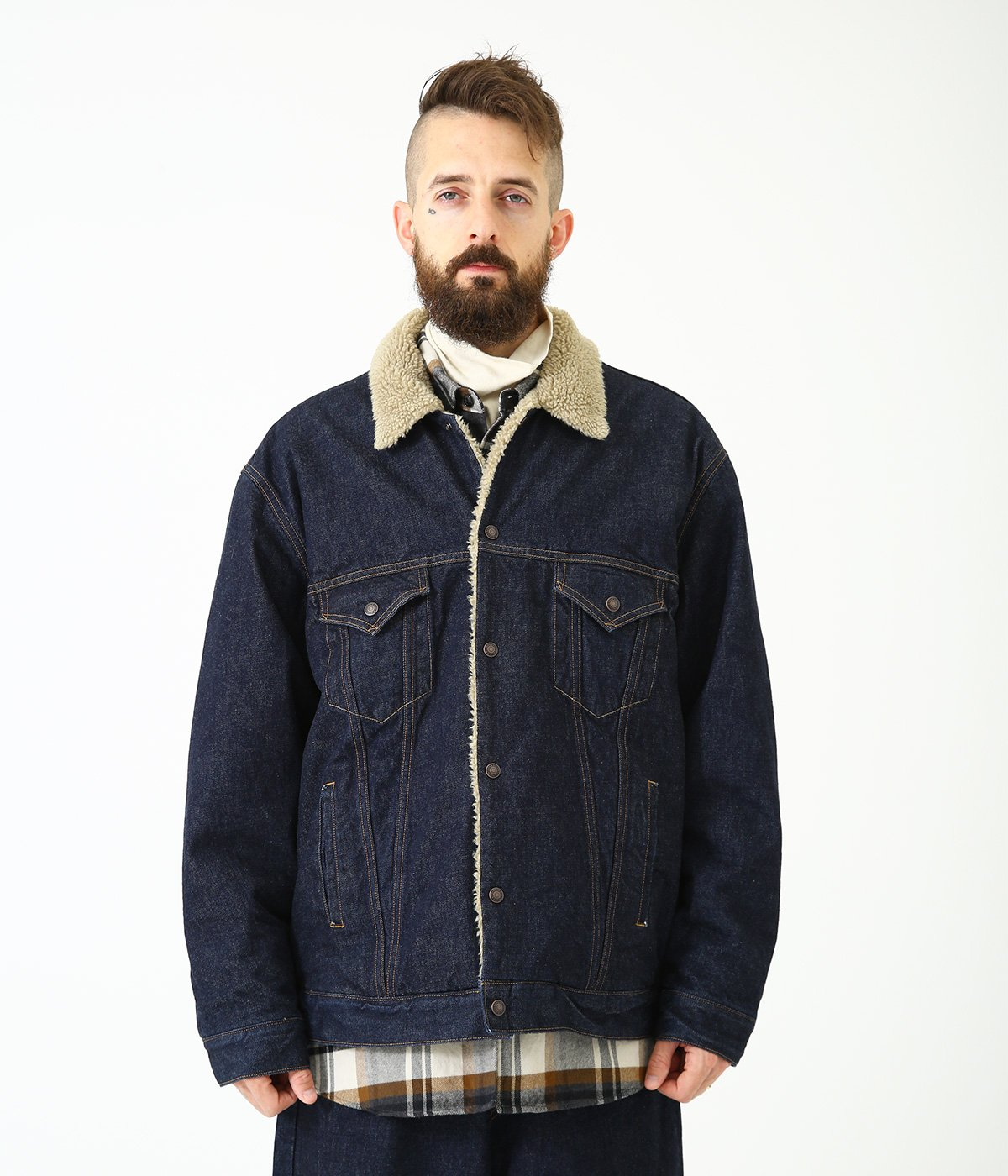 14oz. DENIM JACKET BOA FLEECE LININNG