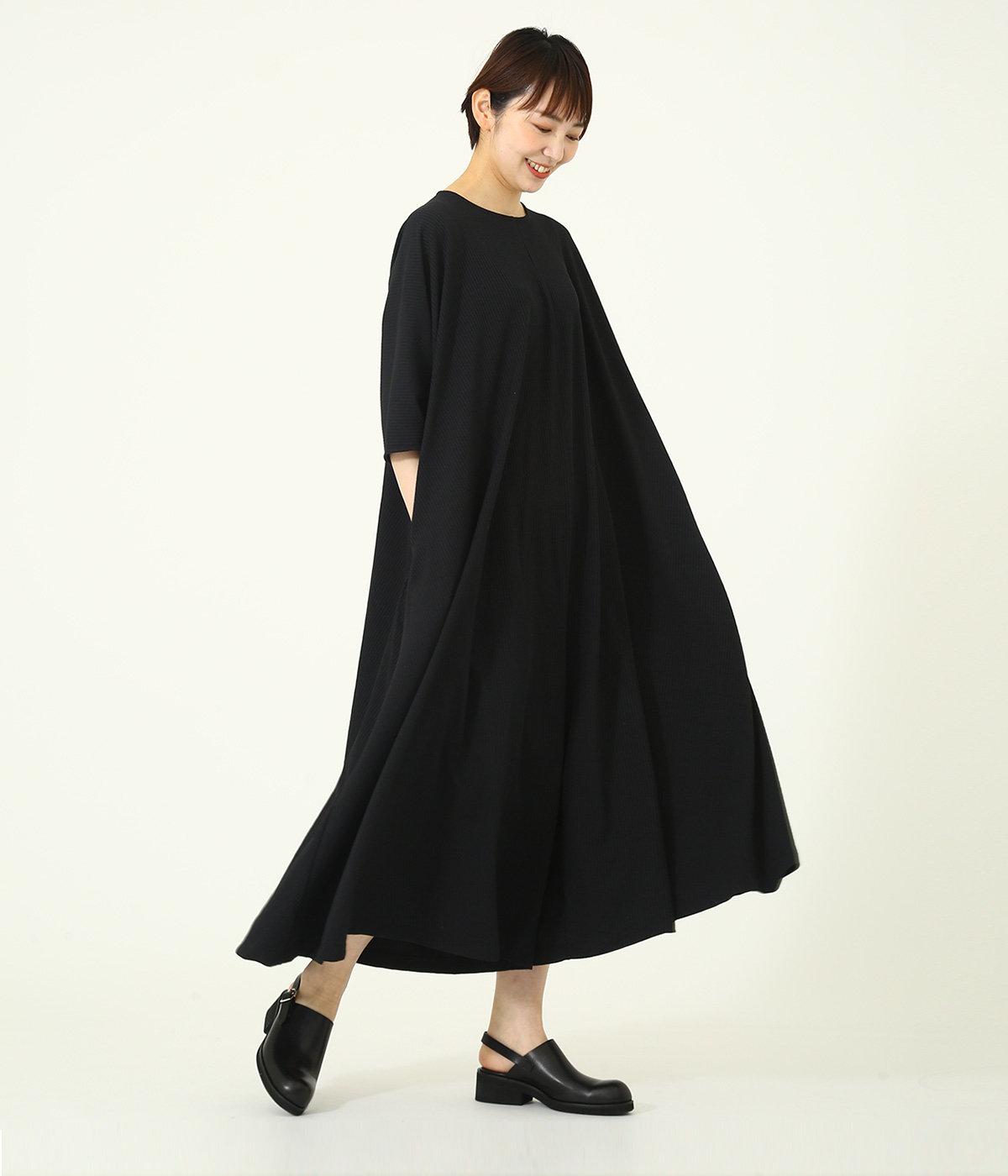 【レディース】Rib Flare Jumpsuit