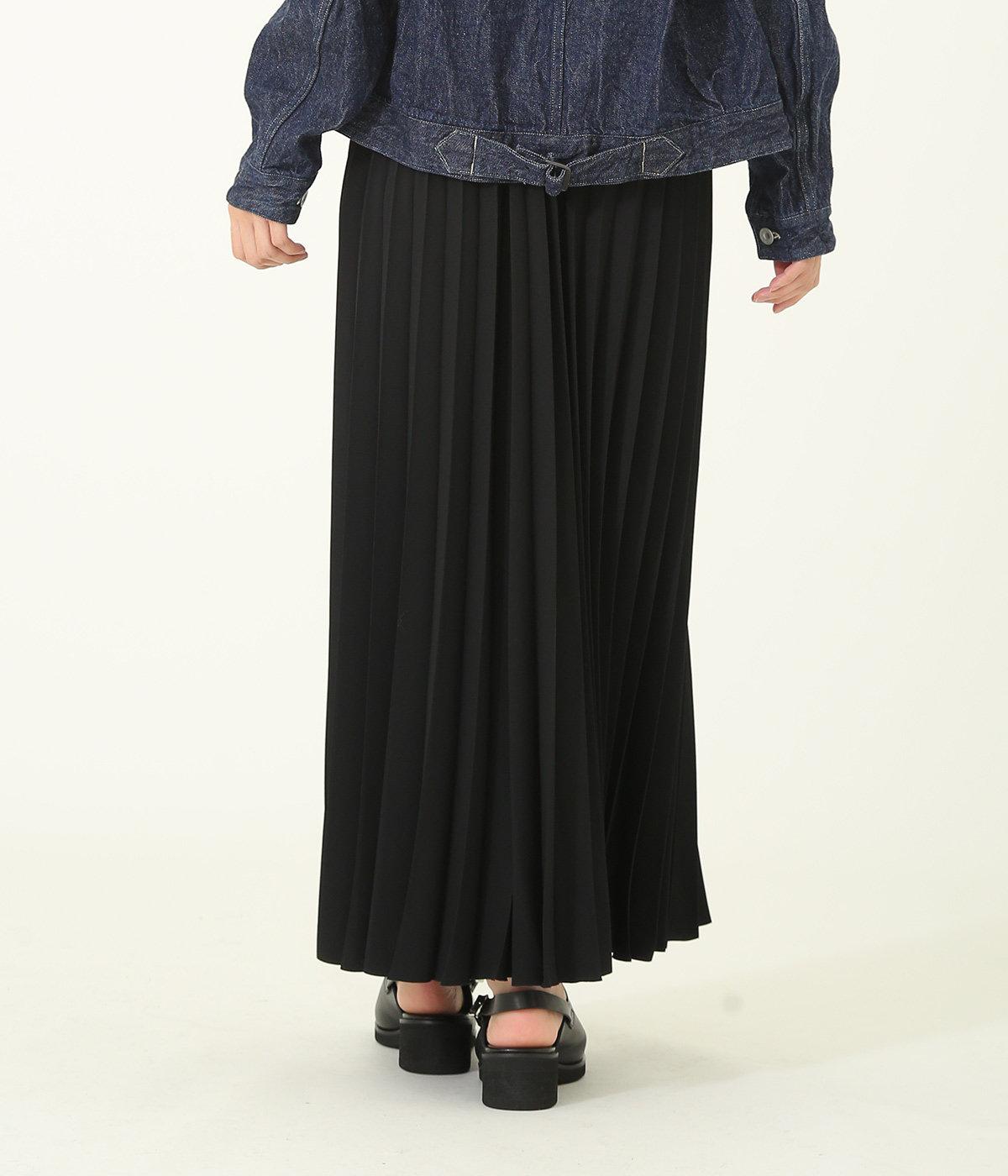 【レディース】Satin Long Pleats Skirt