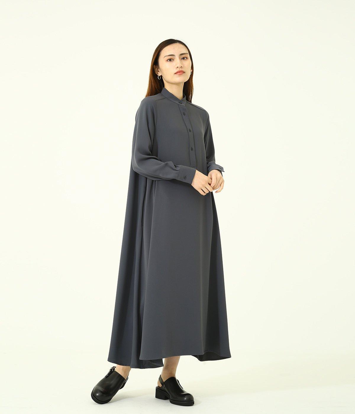 【レディース】Satin Band Collar Dress