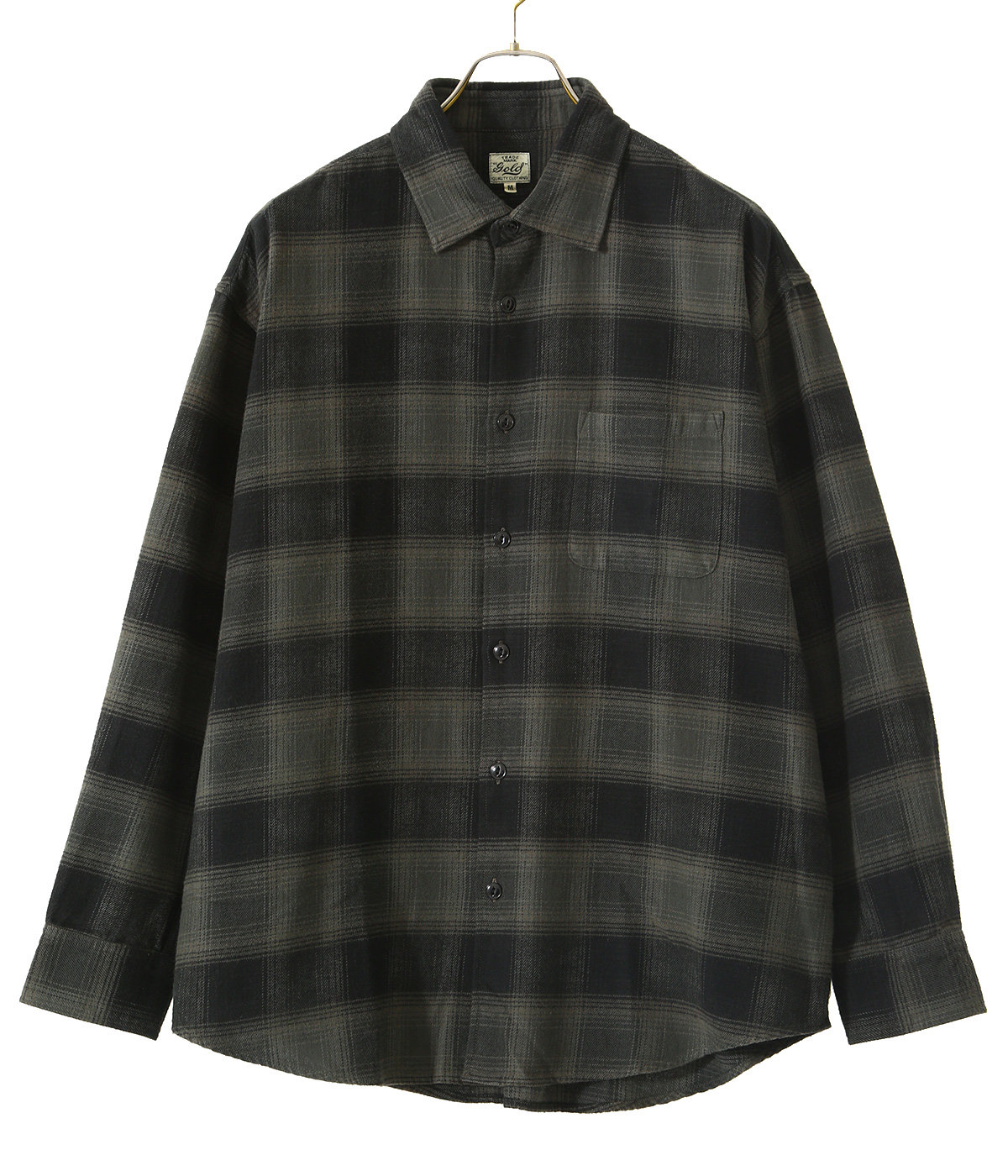 NEL CHECK REGULAR COLLAR BIG SHIRT