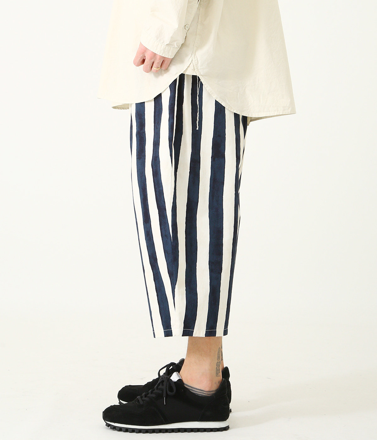 BLEED STRIPES COTTON WEATHER BALLOON PANTS