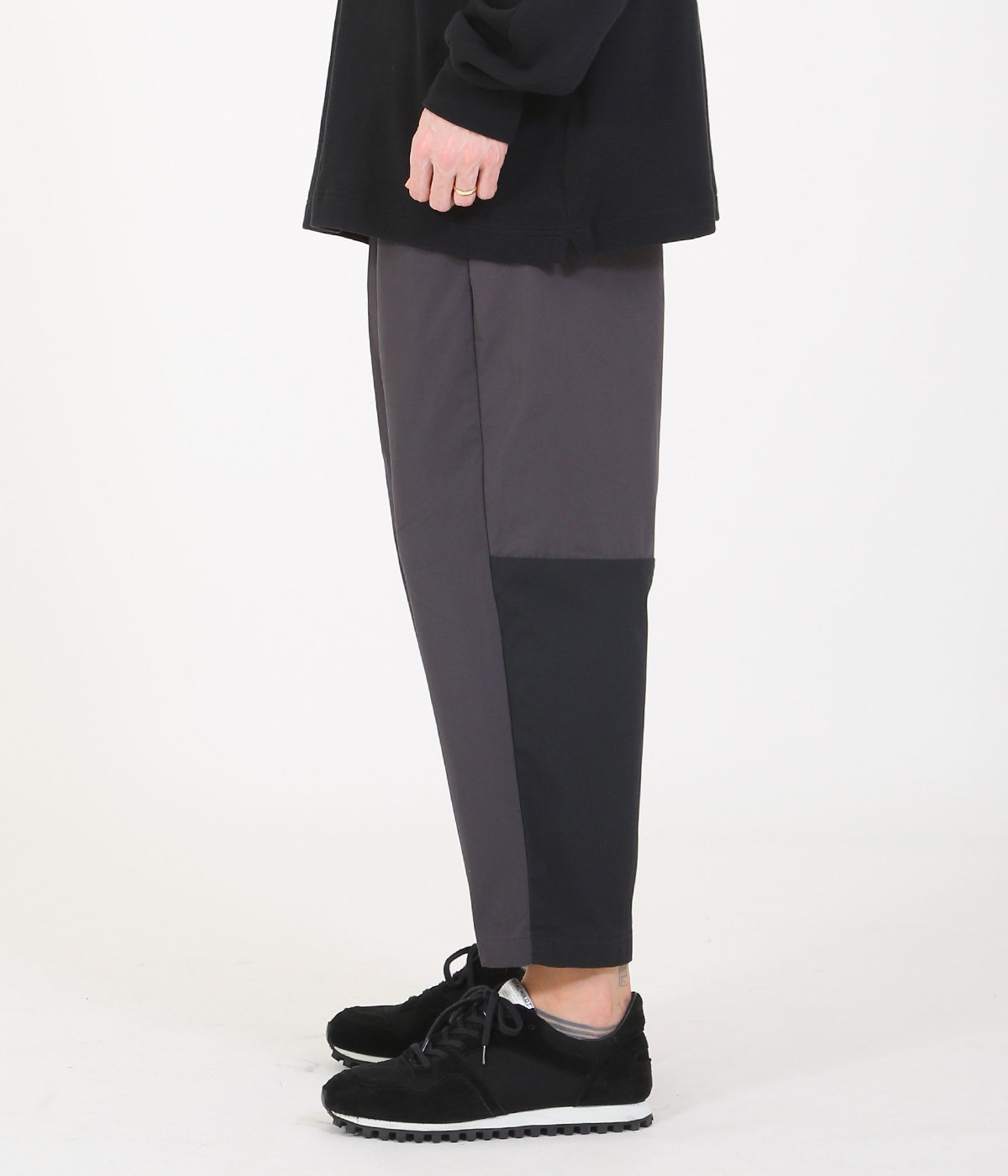 BICOLOR WEAPON 1TUCK WIDE PANTS
