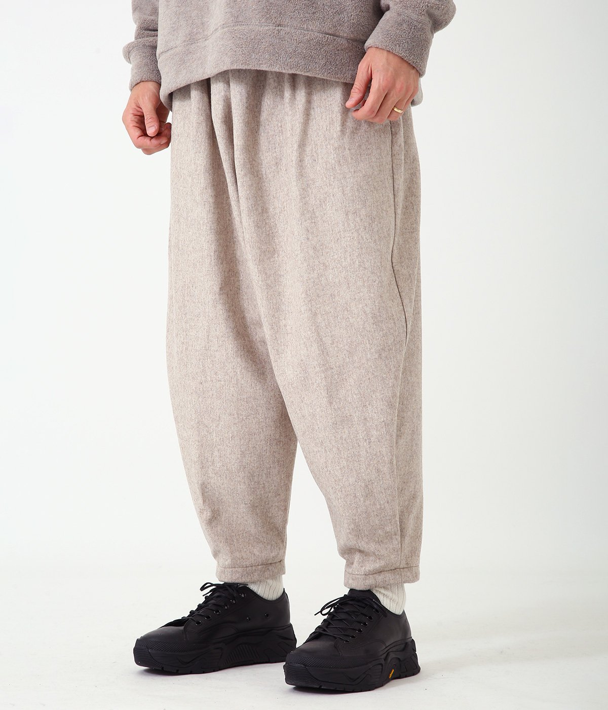 WOOL SOLID PIEROT PANTS