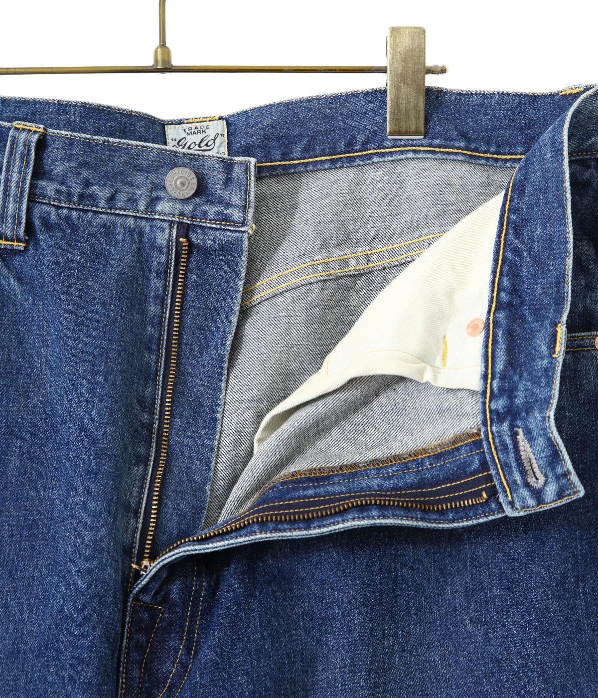 14oz. DENIM 5POCKET WIDE PANTS HARD WASHED