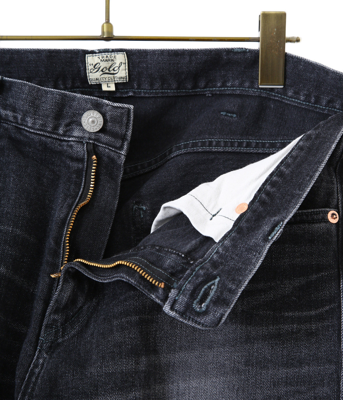 12oz. STRECH DENIM 5POCKET SLIM PANTS HARD WASHED