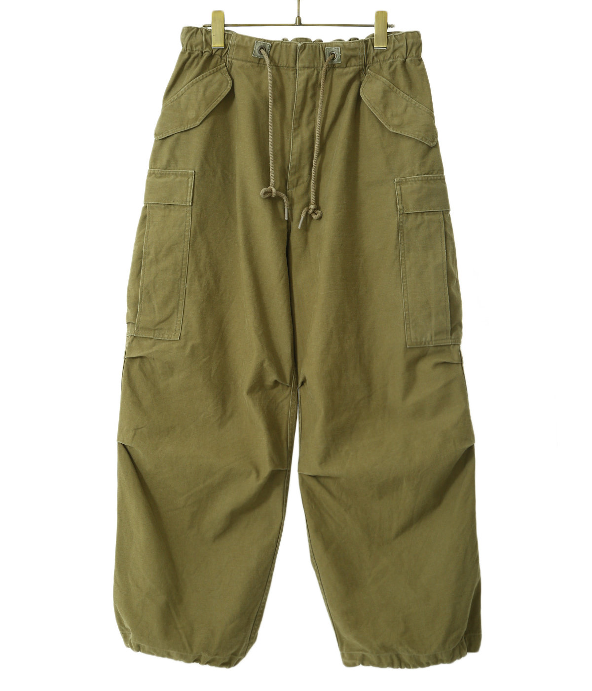 HEAVY BACKSATIN OVER CARGO PANTS