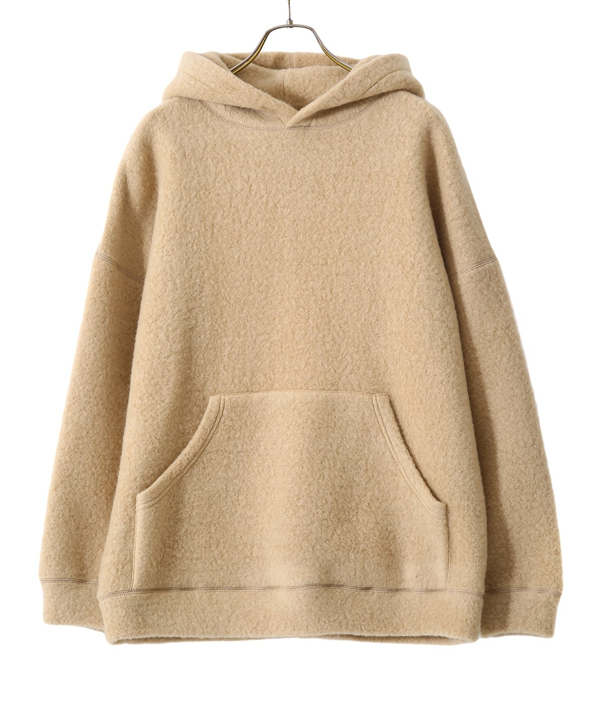 【予約】BOUCLE WOOL KNIT BIG POCKET PULLOVER PARKA