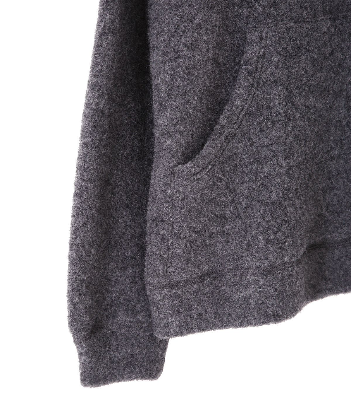 【予約】BOUCLE WOOL KNIT BIG POCKET CREW NECK