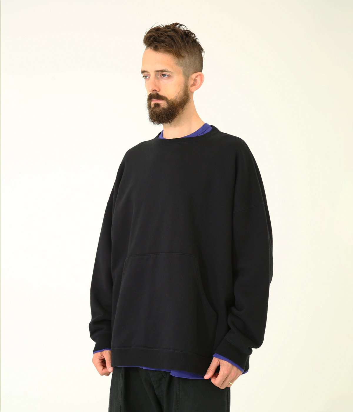 BIG POCKET CREW NECK SWEAT