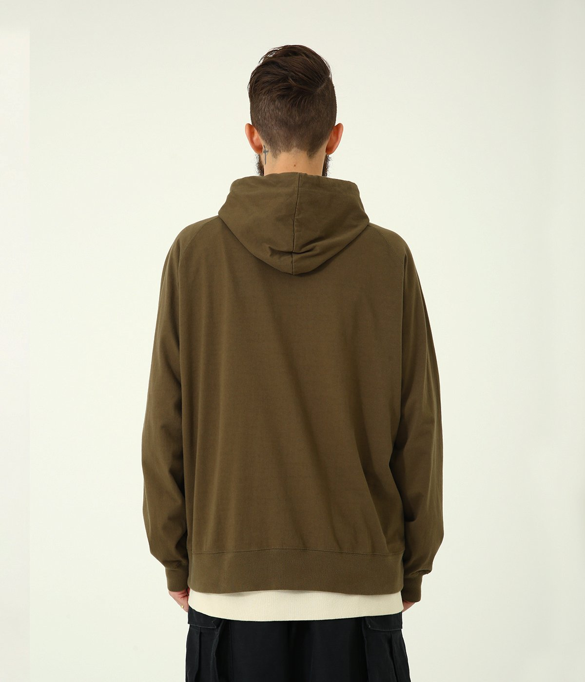14/- HEAVY COTTON HOODED L/S T-SHIRT