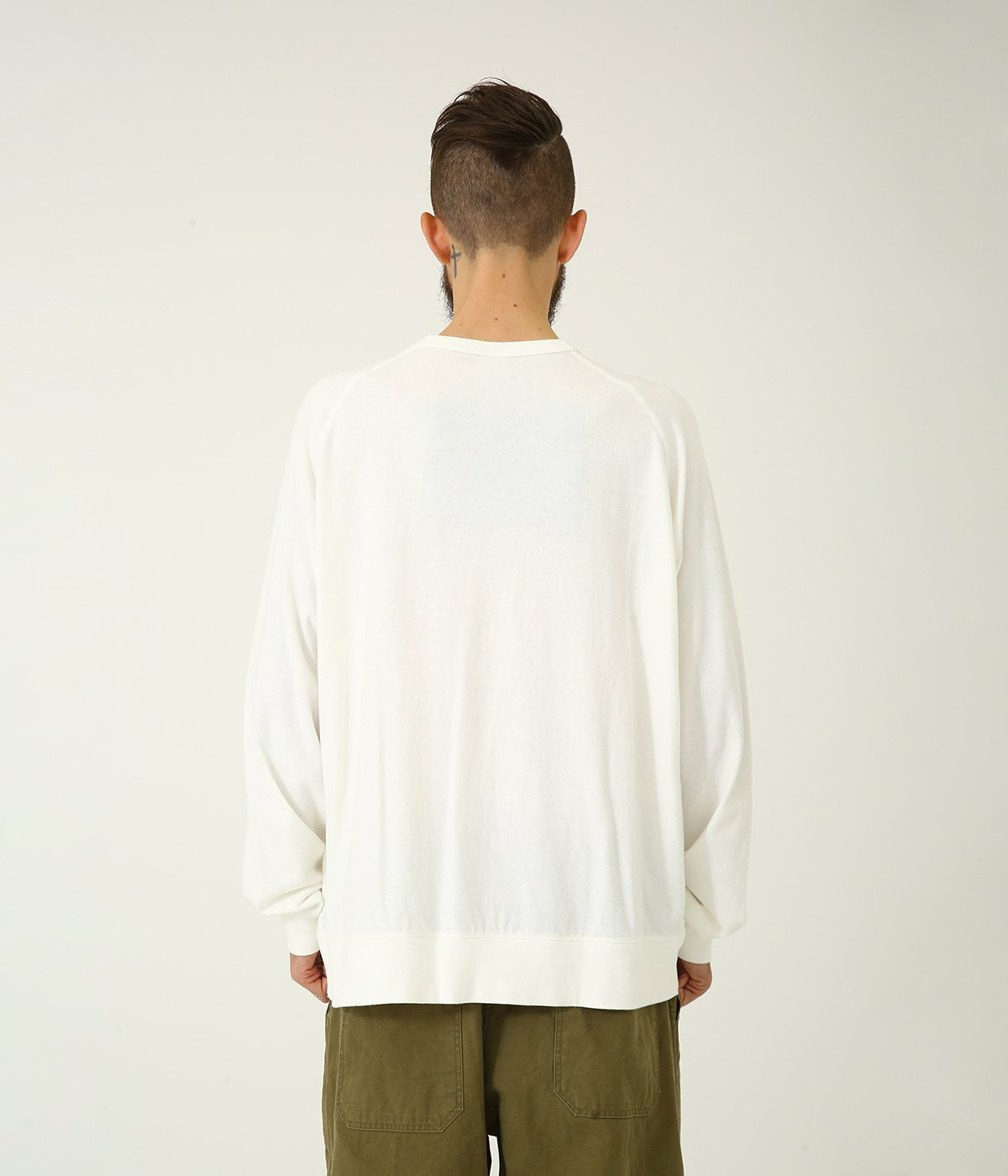 16/- COTTON PEACH BRUSHED RAGLAN L/S T-SHIRT