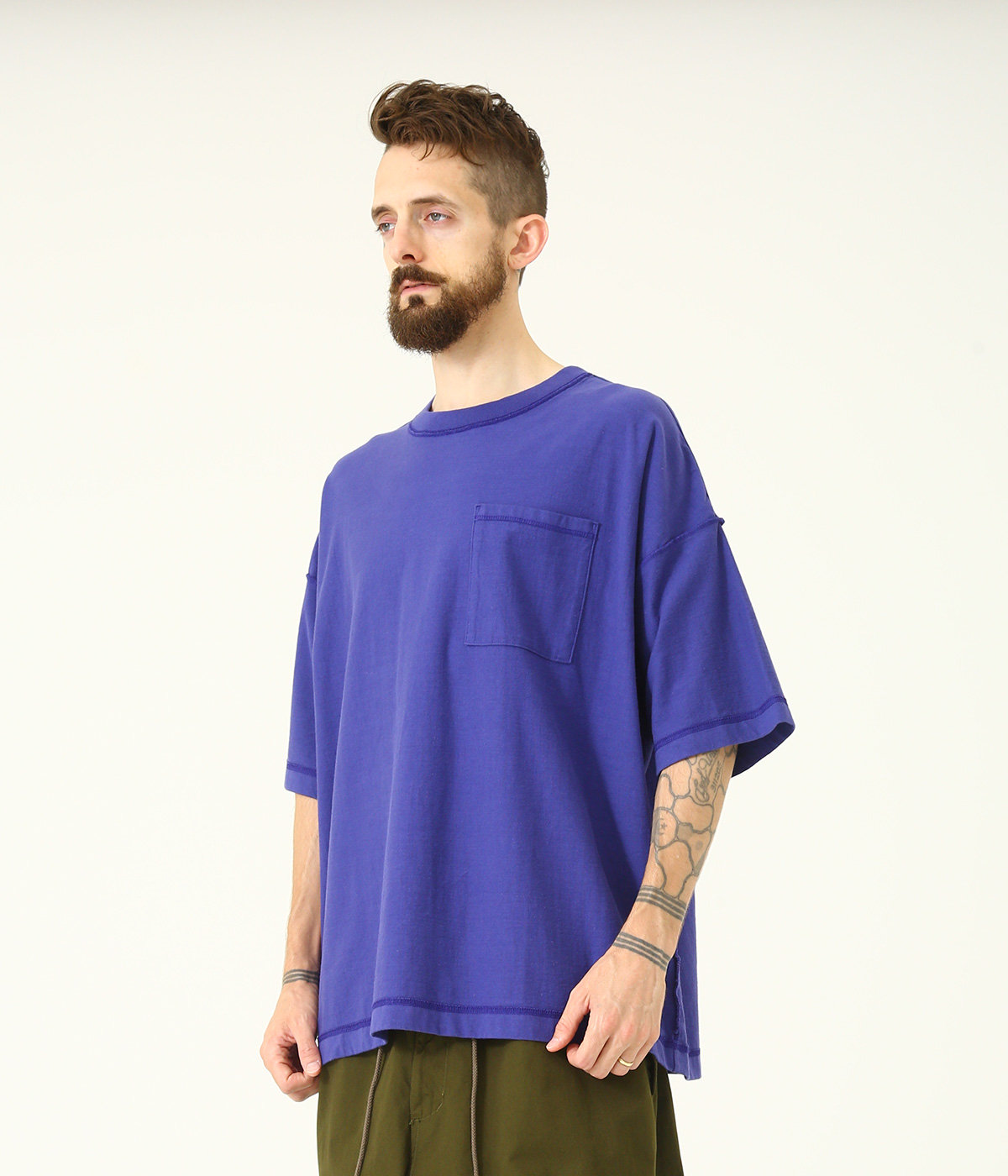 14/- HEAVY COTTON INSIDE OUT BIG T-SHIRT