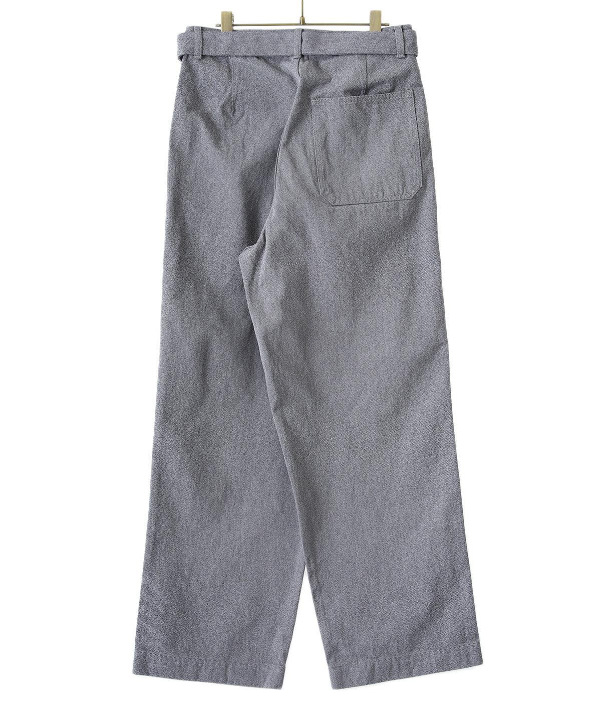 Colorfast Denim Belted Pants