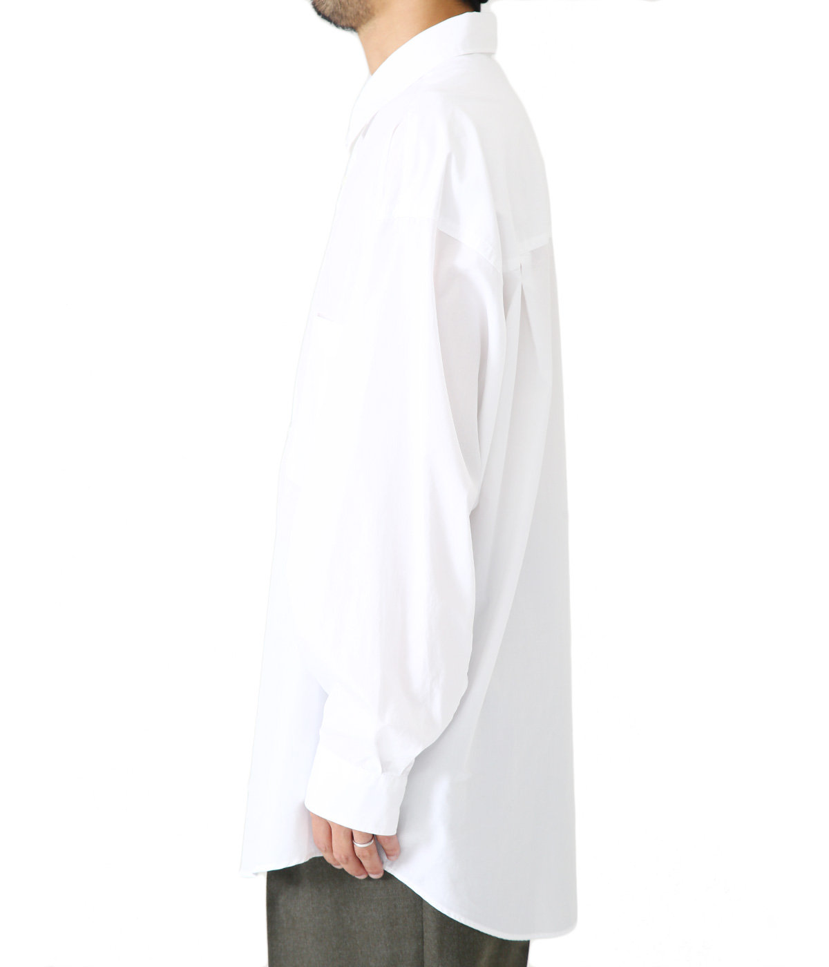 Broad L/S Oversized Regular Collar Shirt