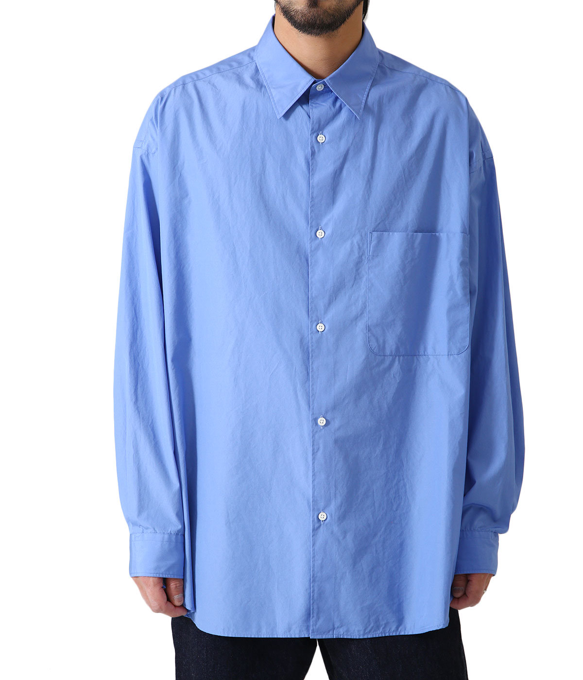 Broad Oversized L/S Regular Collar Shirt
