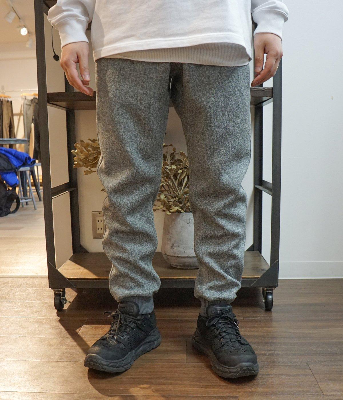 【予約】BONDING KNIT FLEECE NARROW RIB PANTS