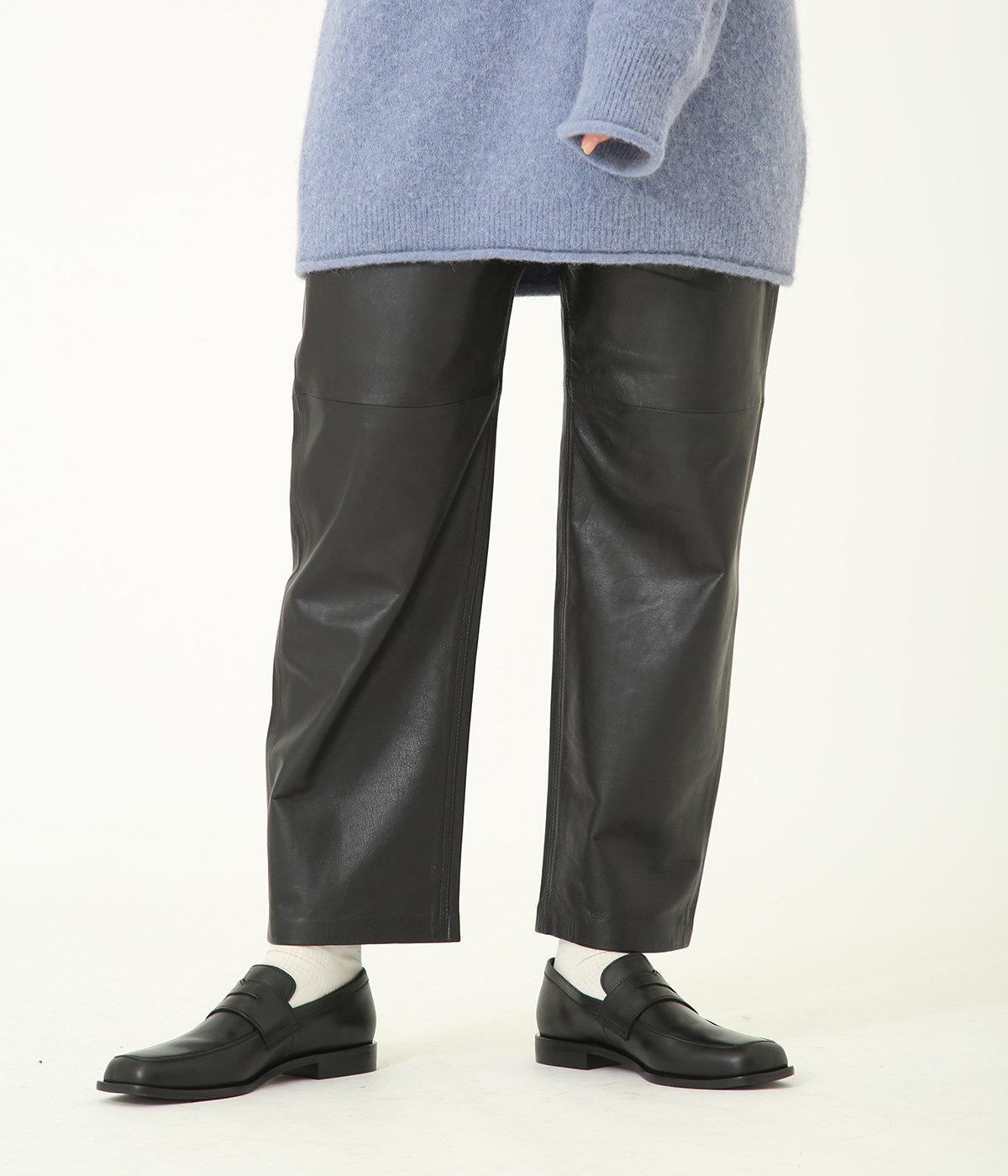 【レディース】Sheep leather 5pocket pants