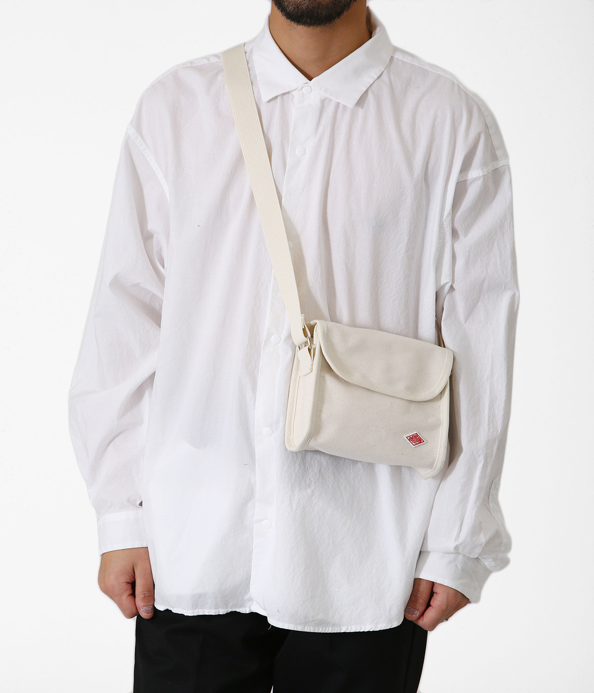 COTTON CANVAS SHOULDER BAG