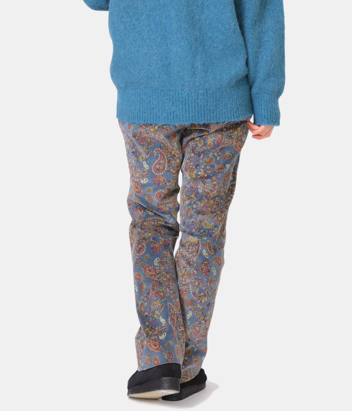 【レディース】Side Tab Trouser - C/Pu 8W Corduroy / Paisley Pt.