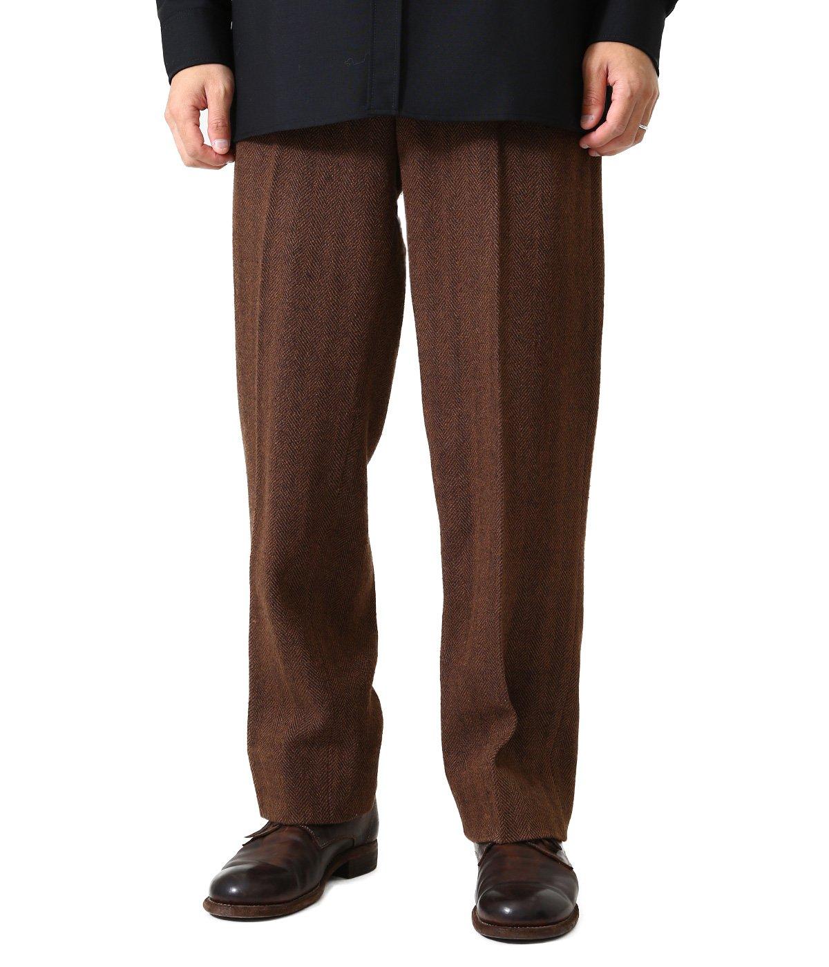 Slik Tweed Trousers