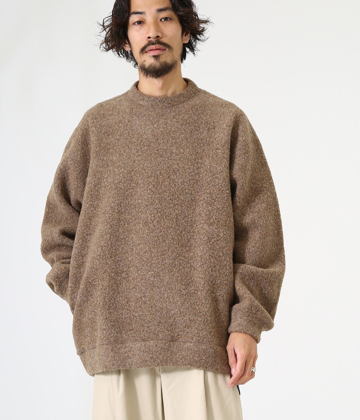 CREW NECK - wool sheep pile -