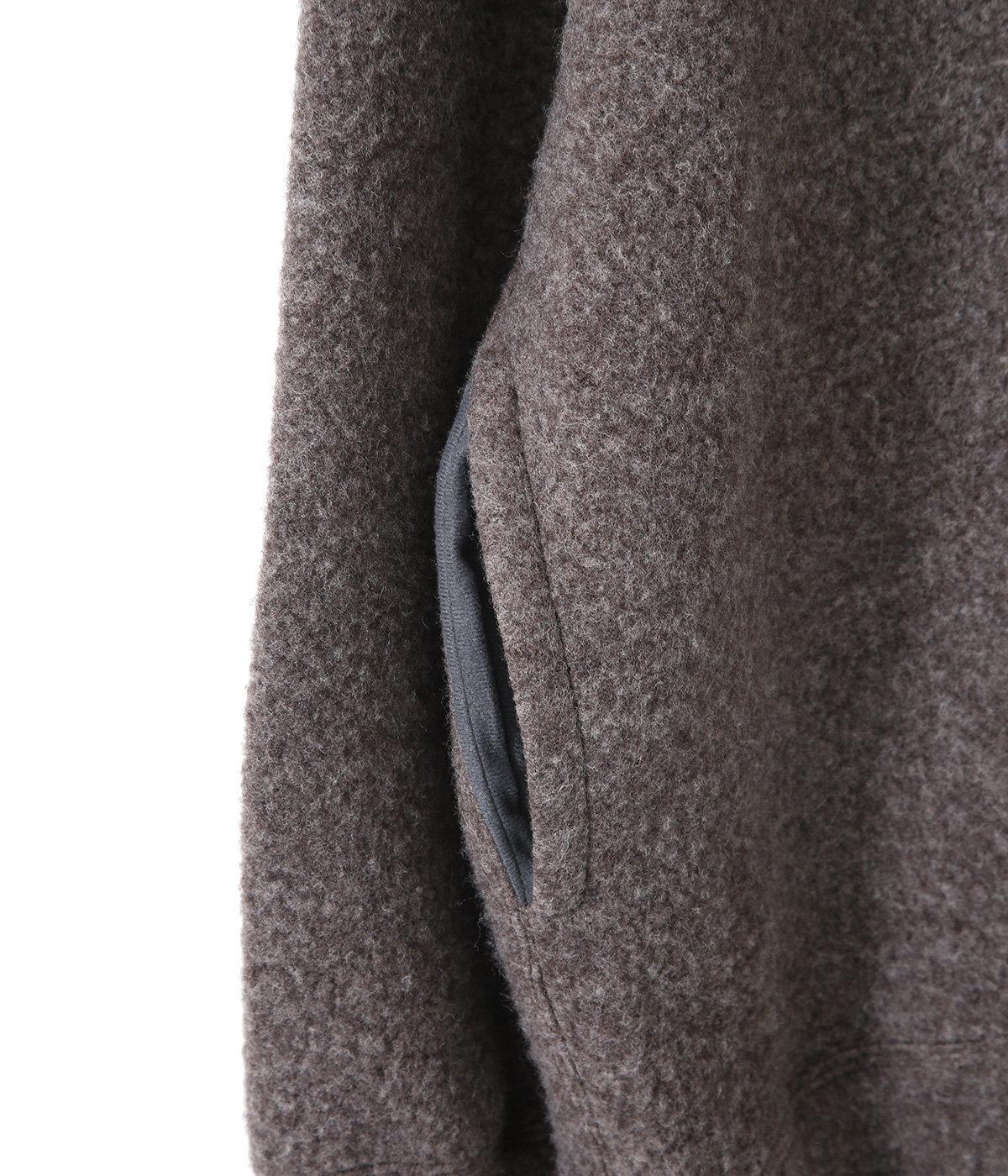 HIGH NECK - wool sheep pile -