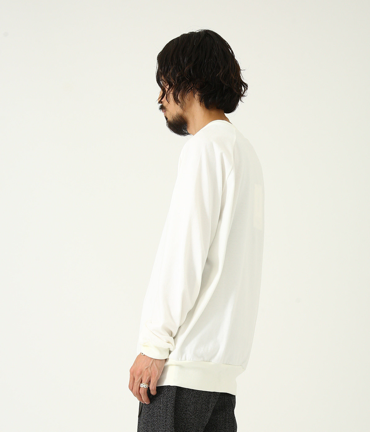 CREW NECK - 30/2 combed cotton knit brushed -