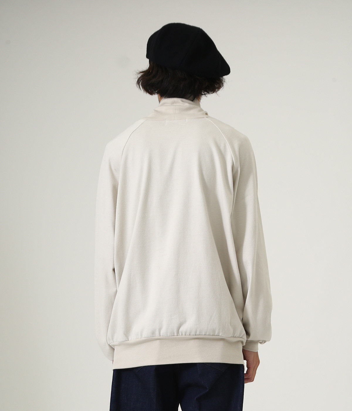 LOOSE NECK - 30/2 combed cotton knit brushed -
