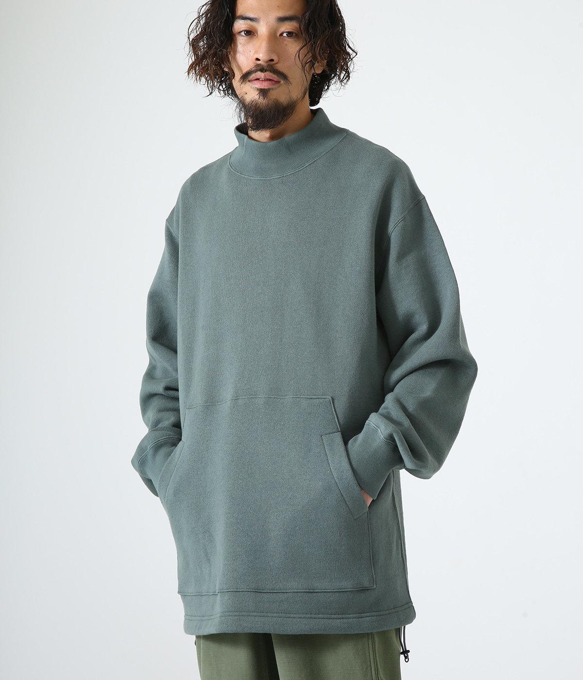 MOCK NECK - organic cotton fleece -