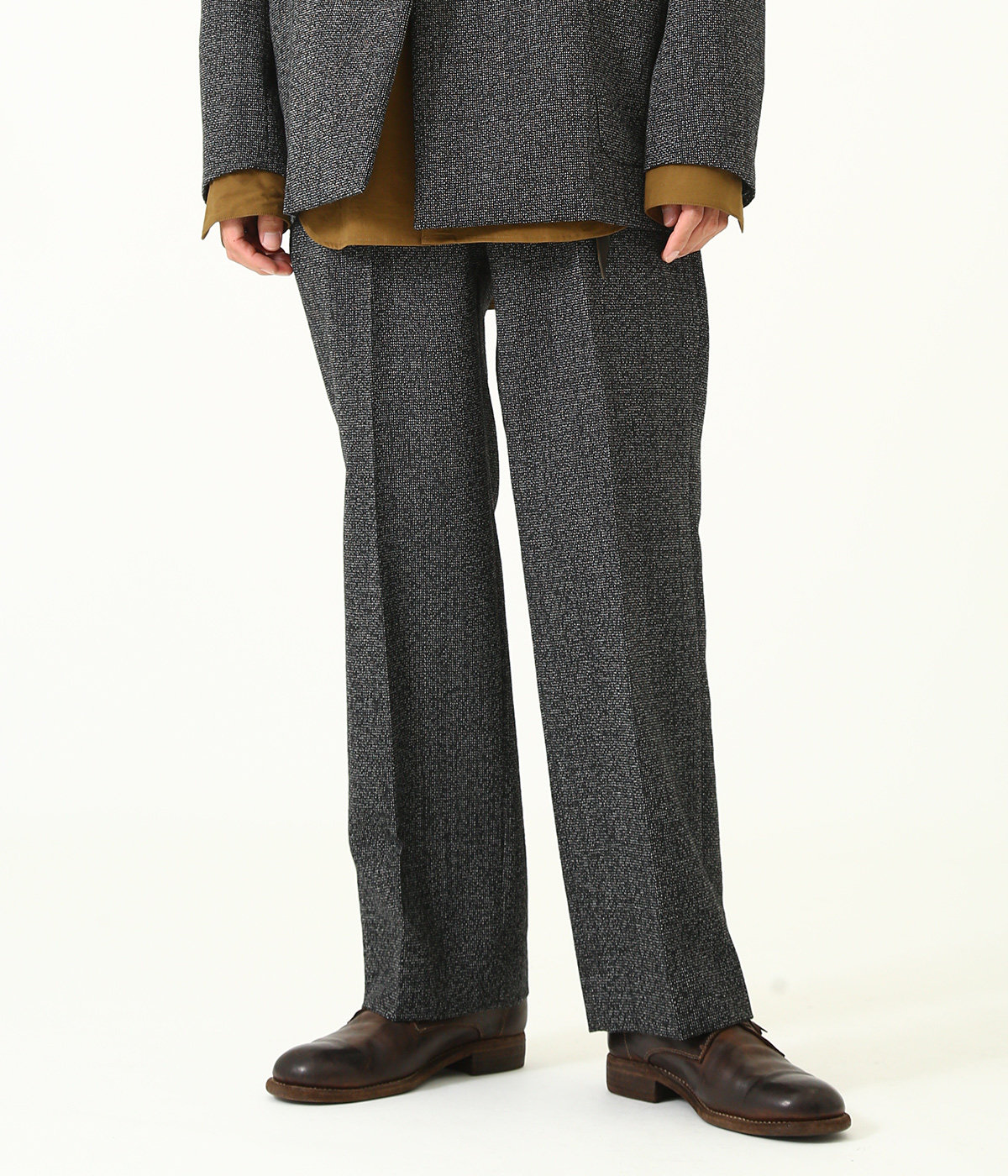 STRAIGHT FIT -high count melange wool-