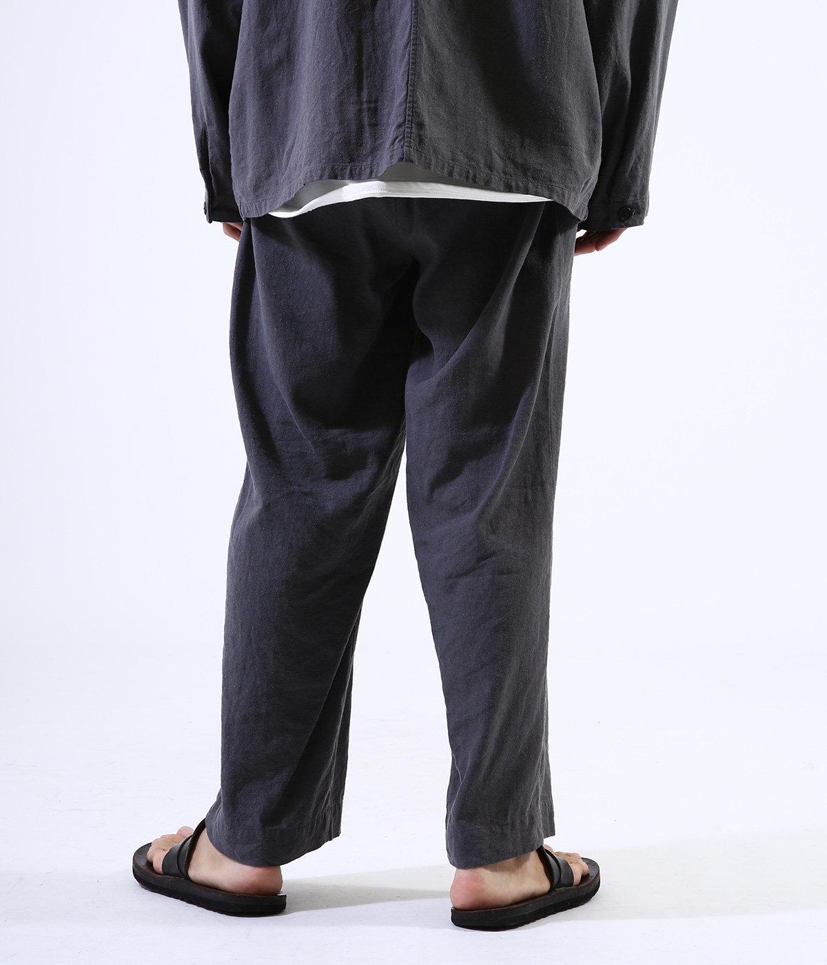 2TUCK STRAIGHT FIT EASY - silk linen -