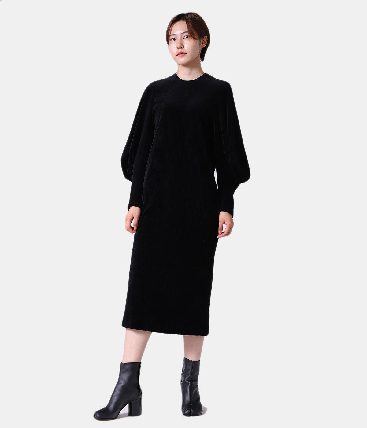 【レディース】Ribbed Velour Jersey Dress