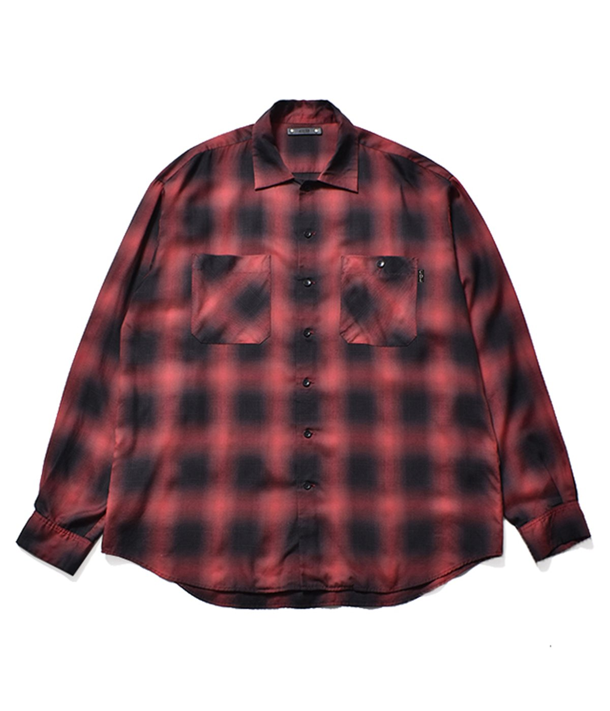Rayon Ombre Check Loose Work SH