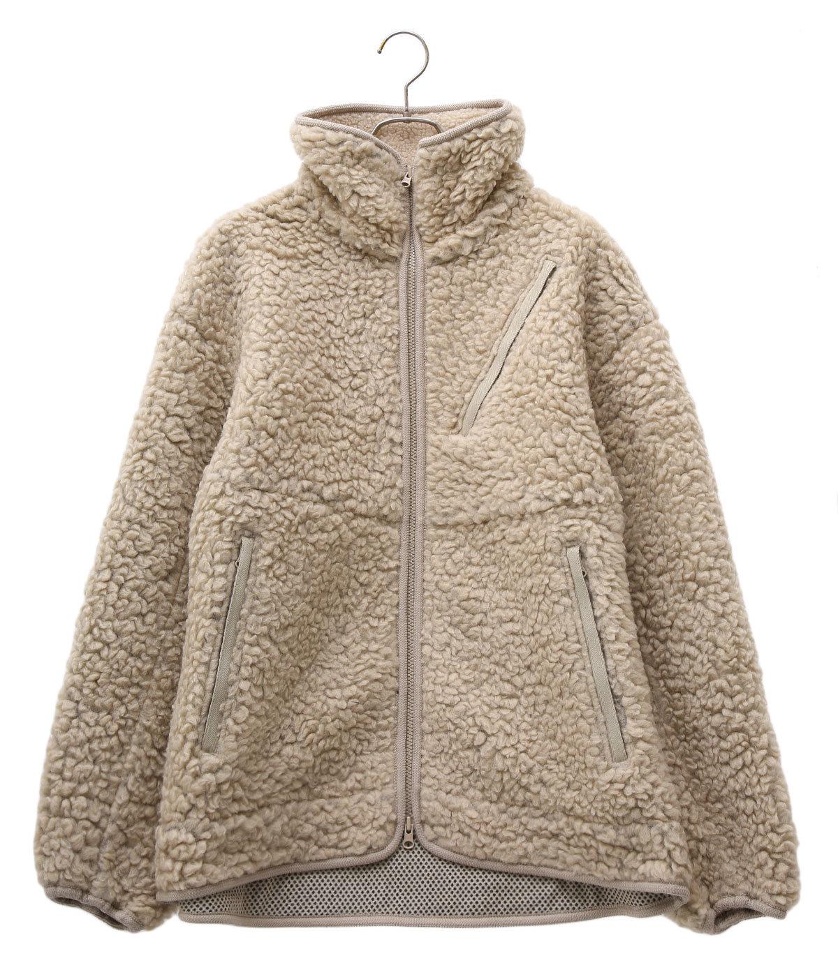 Wool Boa Fleece Field Jacket