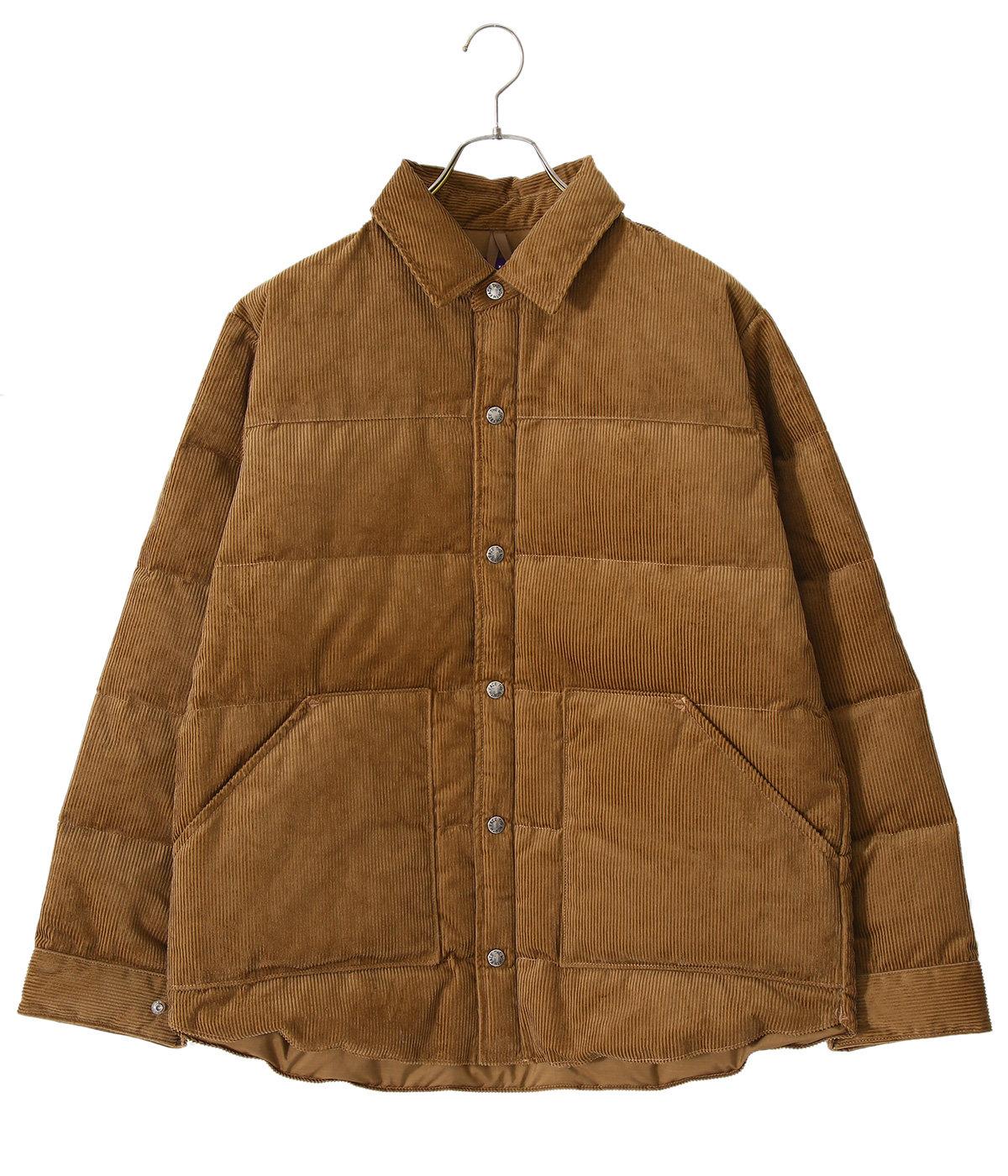 Corduroy Down Shirt Jacket