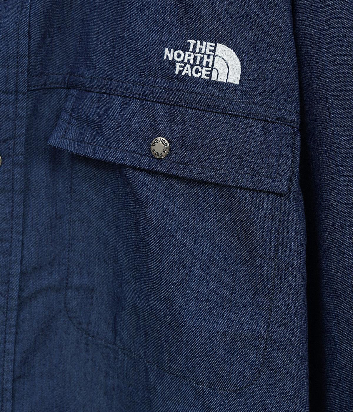 L/S Nylon Denim Nuptse Shirt