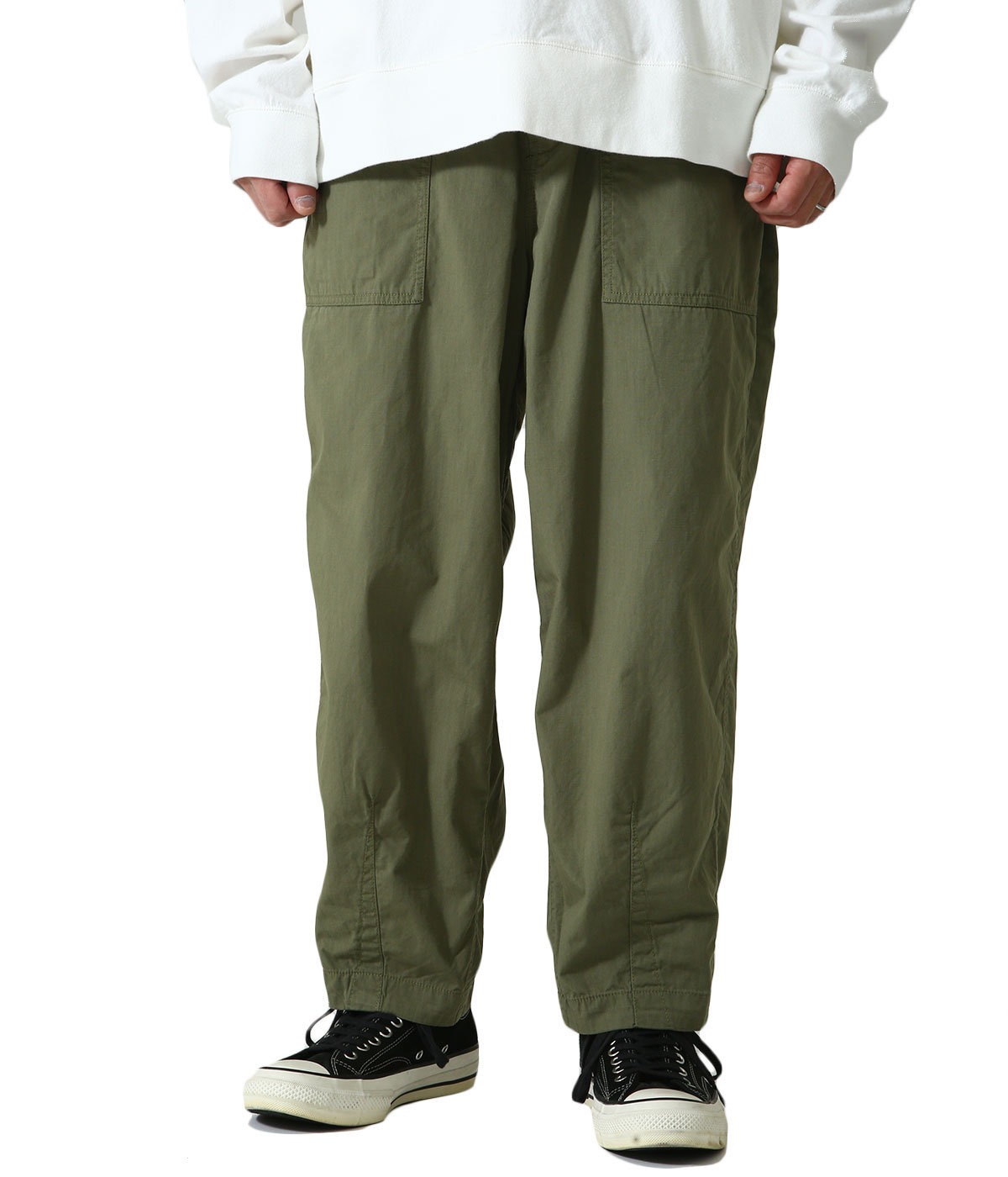 Ripstop Wide Cropped Pants