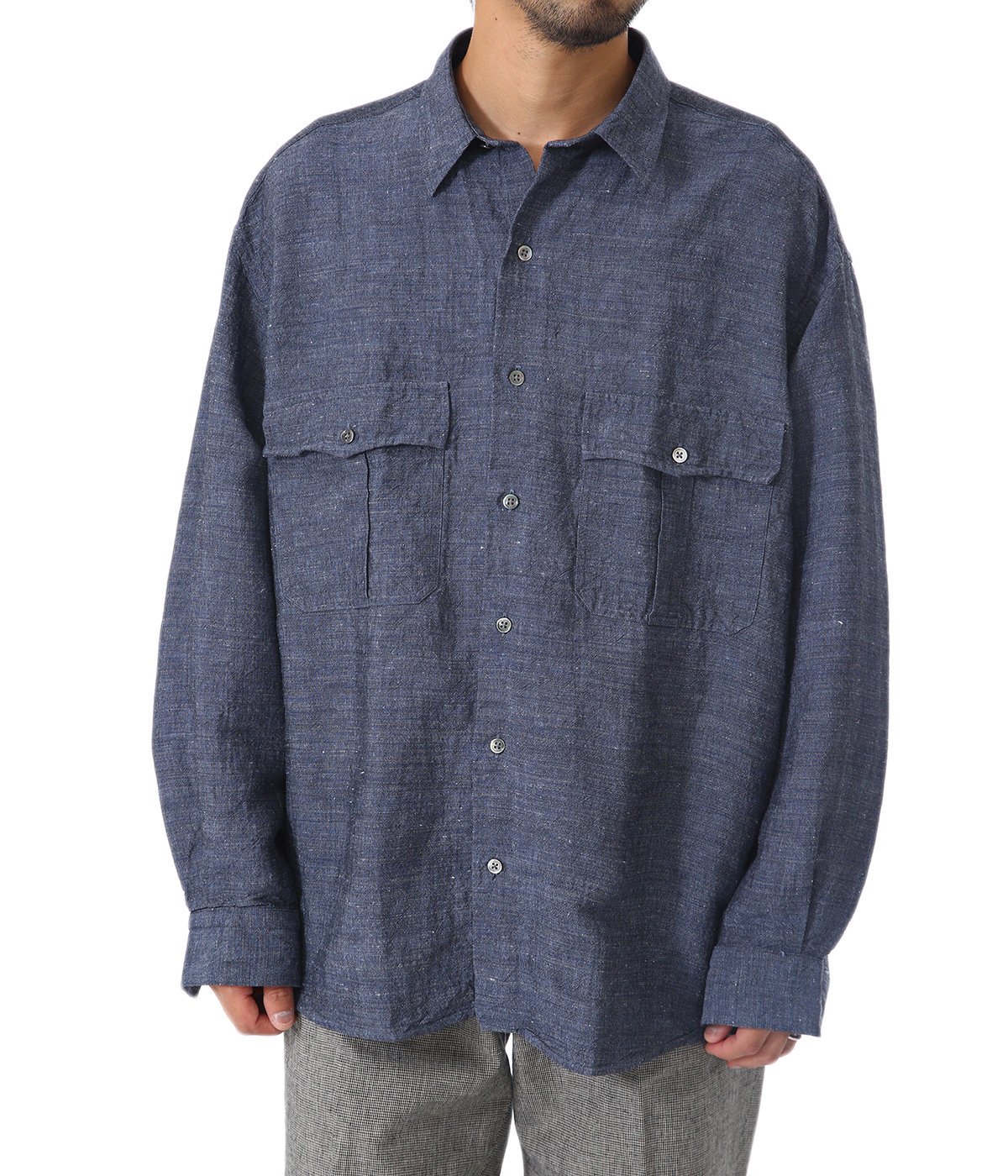 ROLL UP BAMBOO LINEN SHIRT