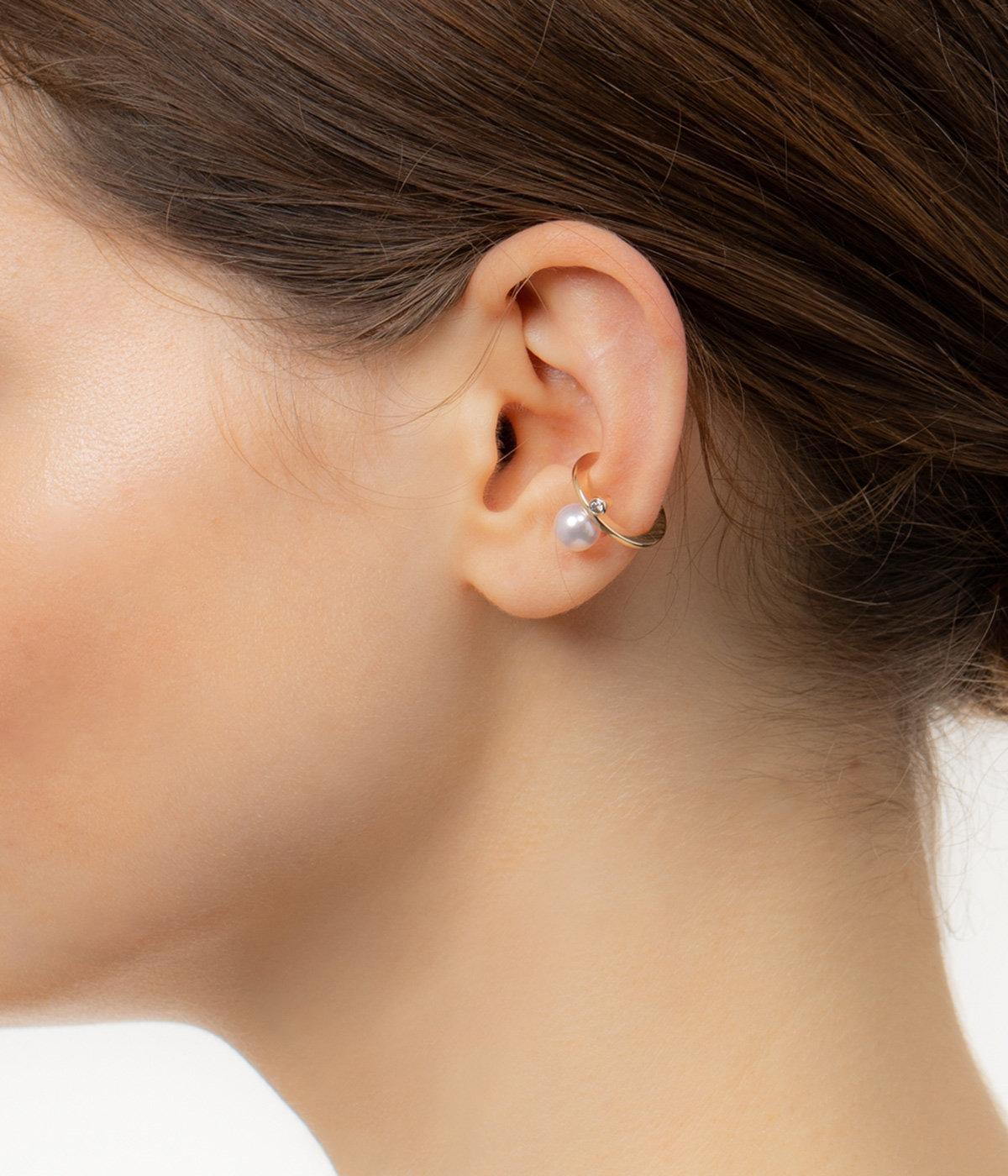 【レディース】Bumble Bee Pearl Diamond Ear Cuff
