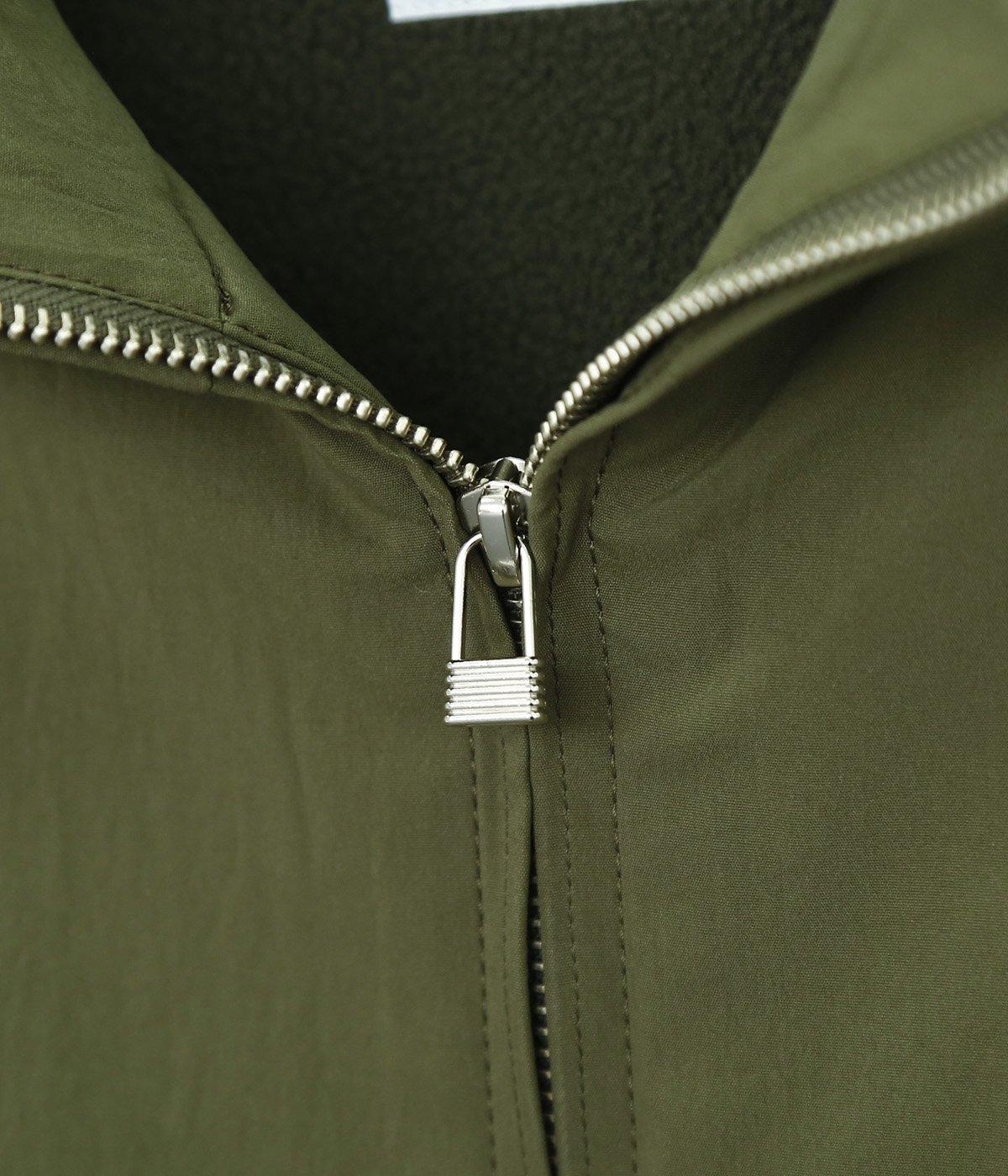 Taslan stretch poplin Zip jacket