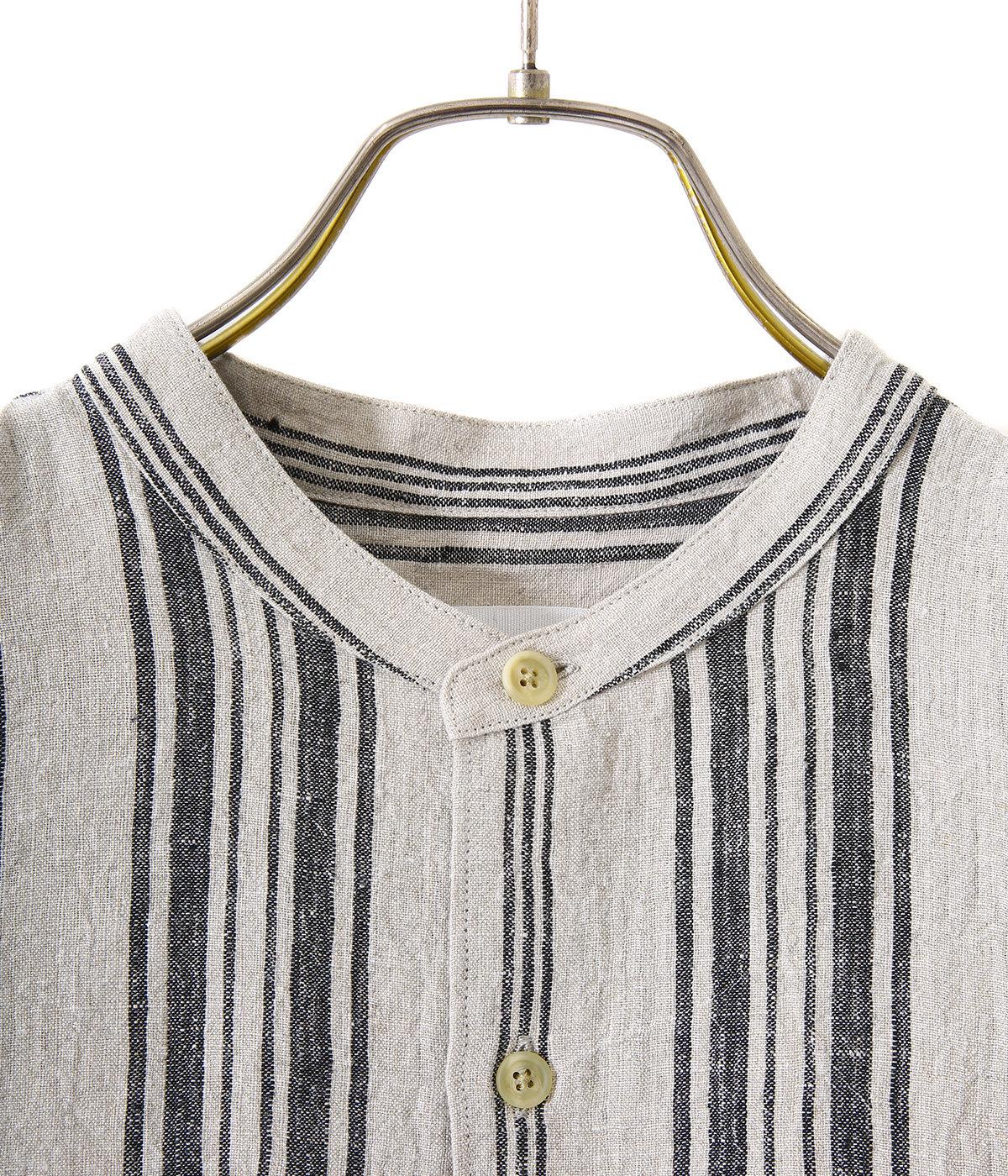 Band collar shirts