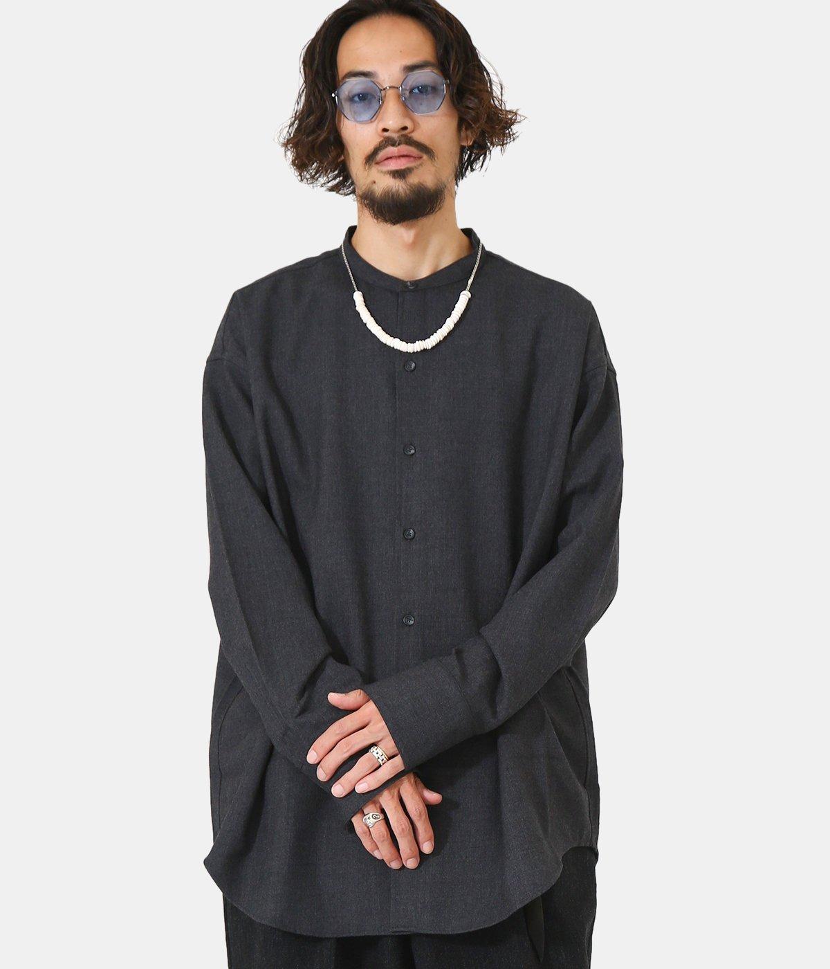Long cuffs Band Collar Shirt
