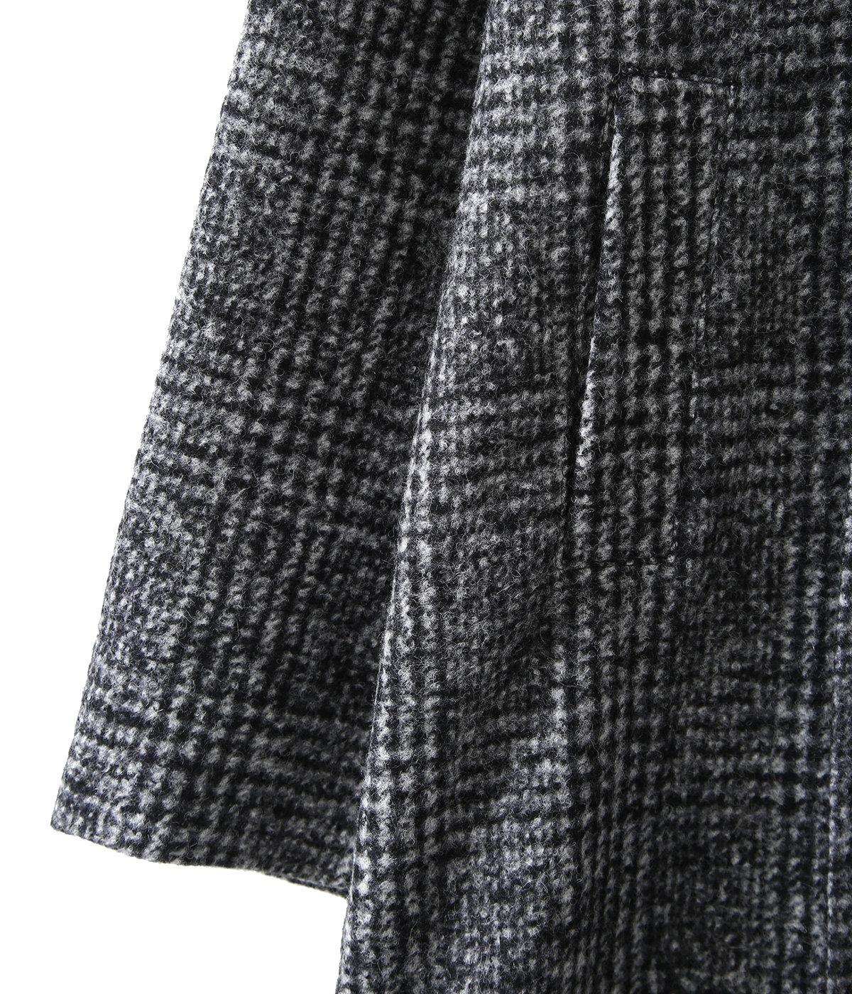 Shawl-Collar Overcoat Baby Alpaca-Blend Mix