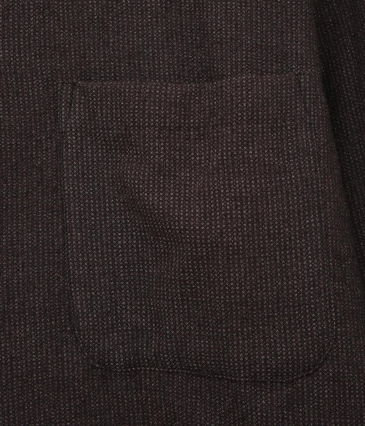 縮絨 ウールオープンカラーシャツ
